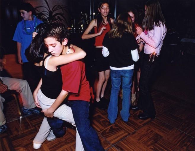 Young teens dancing grinding hot